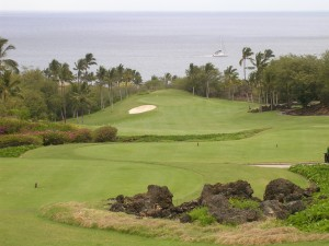 The 1st hole on the Wailea Emerald Course