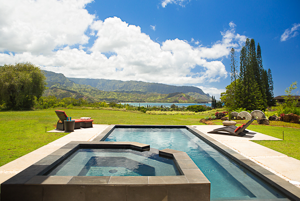 New princeville luxury home overlooking hanalei bay on for Kauai life real estate