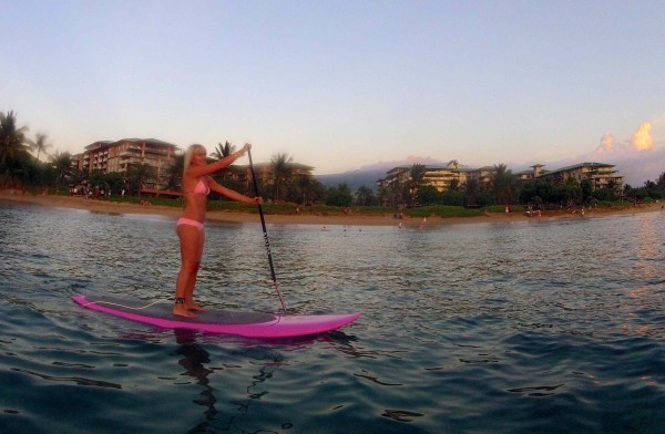 Megan on SUP