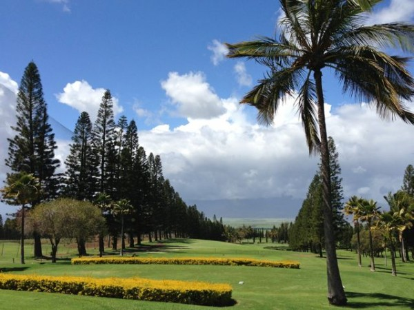 The driving range at the Pukalani Country Club.